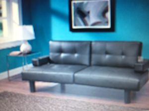 Mainstays Connectrix Faux Leather Futon Brown For In Indianapolis
