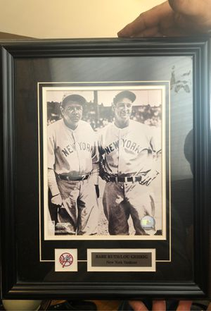 Photo Babe Ruth/ Lou Gehrig New York Yankees