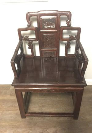Hand-carved Wooden Indoor Chair for Sale in Raleigh, NC