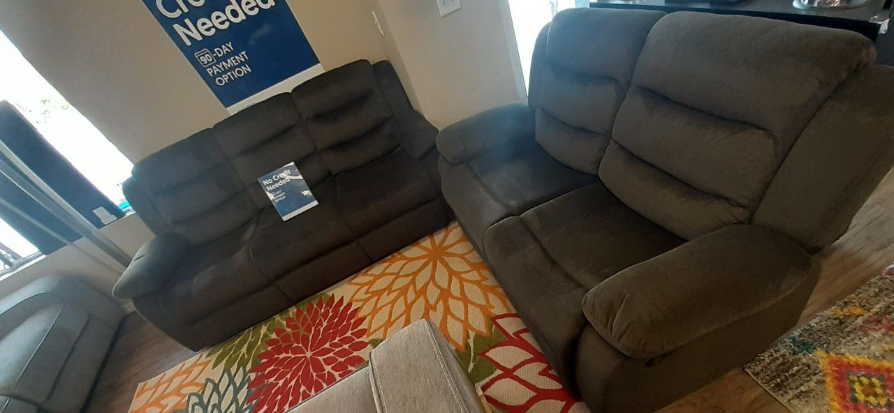 Sofa and love seat from ashley furniture