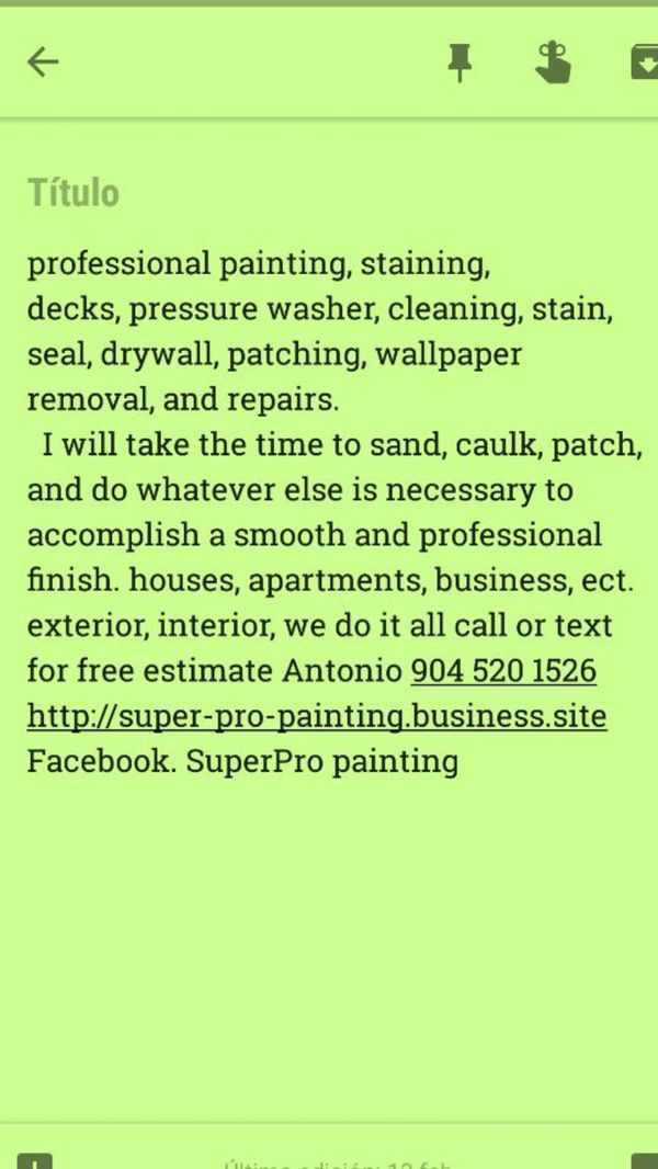 Pressure washer, painting, drywall for Sale in Jacksonville, FL - OfferUp