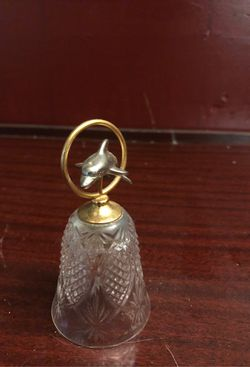 Brass/Silver Crystal Dauphin Bell Thumbnail