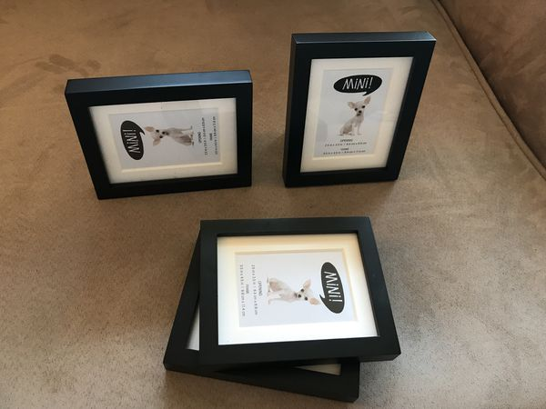 4 Black Mini-Frames with White Mat for Sale in Redondo Beach, CA ...