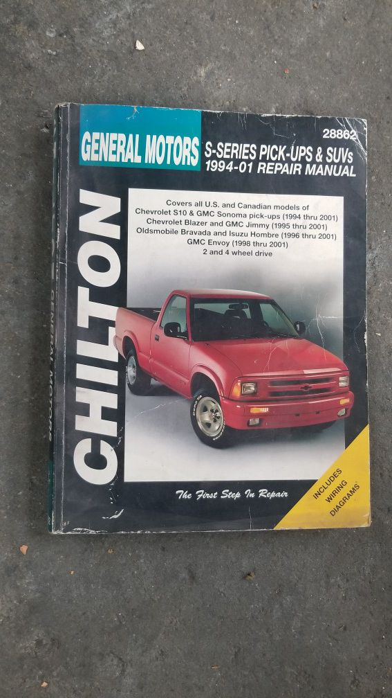 1996 isuzu hombre wiring diagram chevy s10 and blazer repair book for sale in los angeles  ca offerup  chevy s10 and blazer repair book for