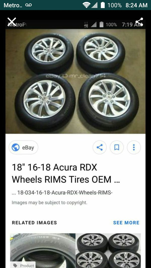 Wheels Acura Rdx New W Michelin Tires For Sale In Miami FL - Acura rdx tires