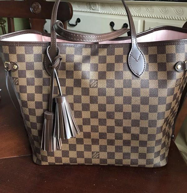 1f7536d0ff0c Authentic Louis Vuitton Neverfull MM Damier Ebene Rose Ballerine WITH Pouch!