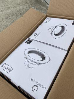 "Green Creative 6 pack - Green Creative 57870 8.5W/13.5W/21W 6"" Round LED Downlight Thumbnail"