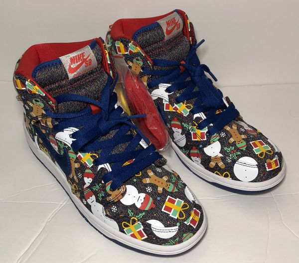 8aa11f49b3e8f5 New NIKE SB DUNK Concepts High Ugly Christmas Sweater Size 6.5 for ...