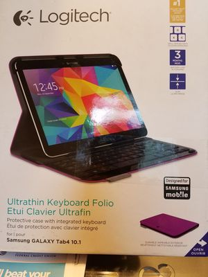 Brand new Logitech keyboard Samsung galaxy Tab4 10.1 purple for Sale in Woodbridge, VA