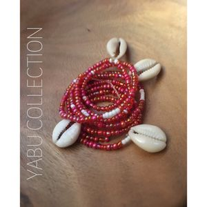 Pink and red waist beads with shells for Sale in Washington, MD