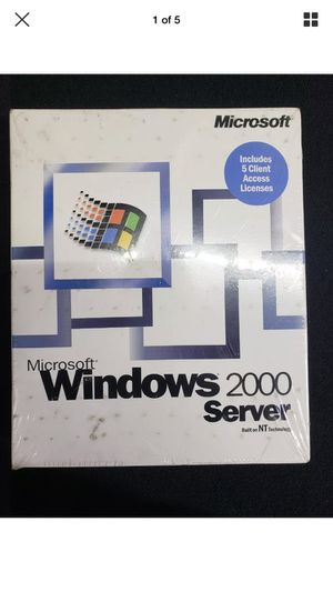Windows Server 2000 5 client cal for Sale in West Islip, NY