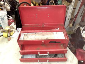 Photo USED MAC METAL TOOL BOX WITH 2 DRAWERS FOR TOOLS...GREAT CONDITION!!! AWESOME PRICE!!!