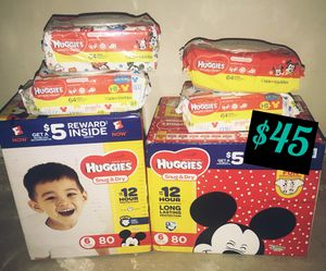 Size 6 Huggies for Sale in Silver Spring, MD