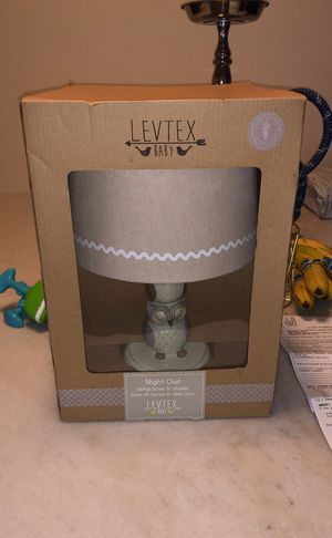 Levtex night owl lamp base and shade for Sale in Fort Washington, MD