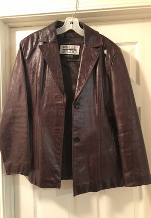 Brown Leather Coat for Sale in Greensboro, NC