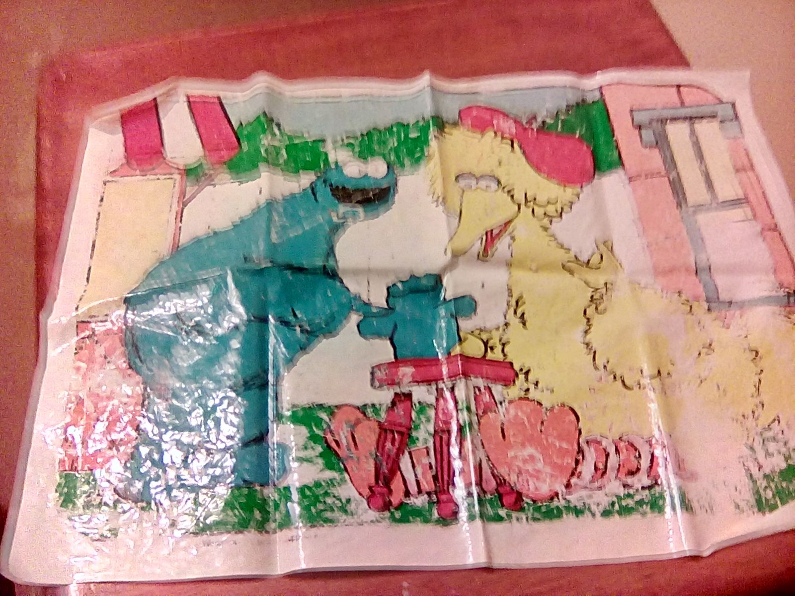 Old sesame Street wall posters something from like the 80s 70s really worn somewhat flexible on the price