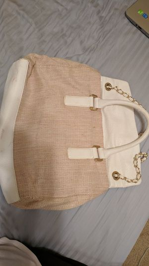 Ivanka Trump White Pink Gold Leather Handbag AUTHENTIC for Sale in Casselberry, FL