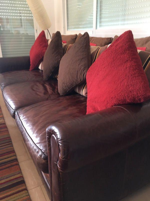 Restoration Hardware Original Lancaster Leather Sleeper Sofa For