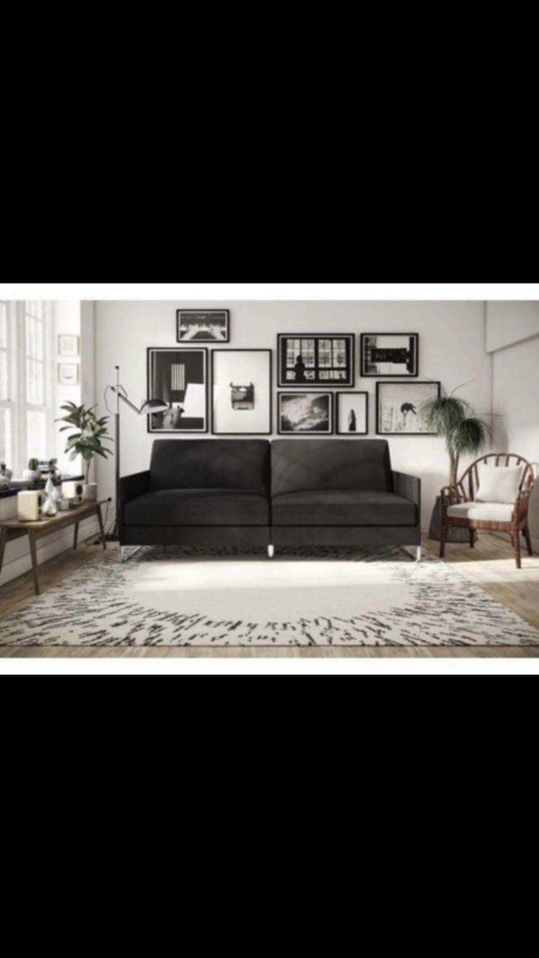 Grey Linen Sofa Futon (Fathers Day Special!) jM $125 Ends Jun.15th