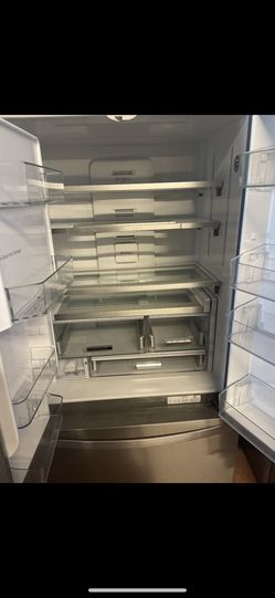 Open box whirlpool French door refrigerator. On sale! $1,899 Thumbnail