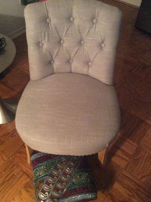 Silver Chrome Tan Chair and Foot Rest made in China for Sale in Forest Heights, MD