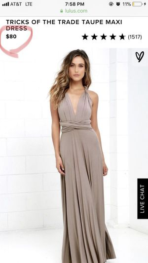 7371e5c64b7 Lulu s Tricks of the Trade Taupe Maxi Dress size M for Sale in Queen Creek