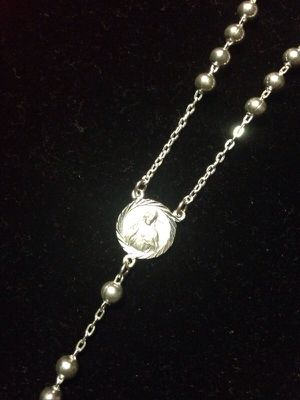 Holy Rosary Necklace 999 Silver for Sale in Reston, VA