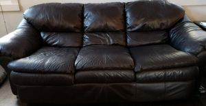 Leather sofa for Sale in Moseley, VA