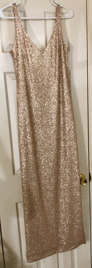 Sorrella Rose Gold Sequined Gown for Sale in O'Fallon, MO