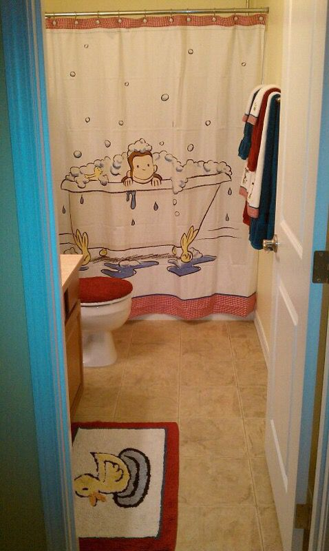 Pottery Barn Curious George Bathroom Set