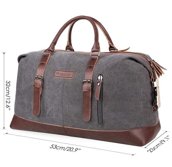 89b5568825f Mens Duffel Bag Vintage Weekender Bag Travel Duffel Bag Canvas Overnight Bag