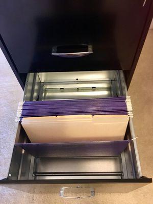 3 Drawer Black File Cabinet w/ New File Folders for Sale in Alexandria, VA