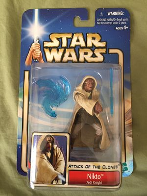 Star Wars Toys Attack Of The Clones Nikto Jedi Knight Action Figure NEW NWT for Sale in Tempe, AZ