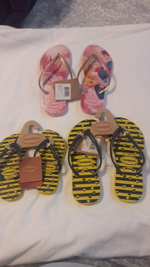 c4f6df82e86 Havaianas Flip Flops girls NWT (asst) for Sale in Baton Rouge