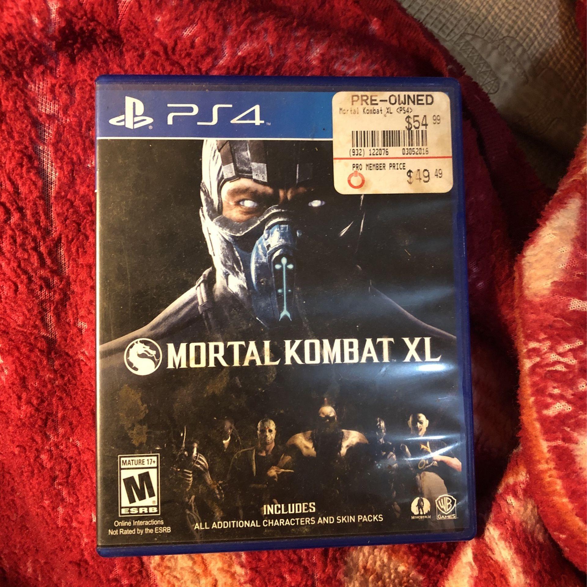 mortal kombat XL ps4 (all characters unlocked)
