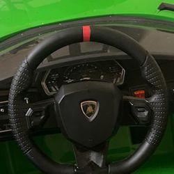 Green Lamborghini Power Wheel  Thumbnail