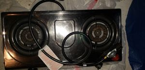 2 burner propane stove with gas regulator for Sale in Watsonville, CA