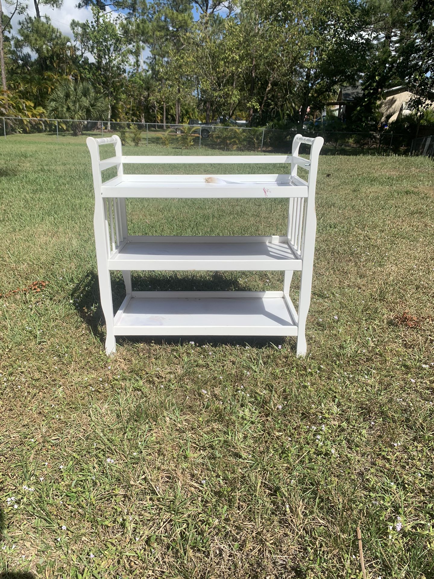 Small changing table/ shelf