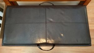 Faux Leather Storage Ottoman and Reversible Tray Espresso) for Sale in Mount Rainier, MD