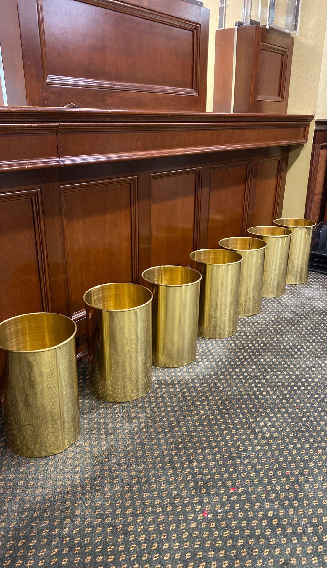 """7 Glaro Gold 10"""" Garbage Pales"""