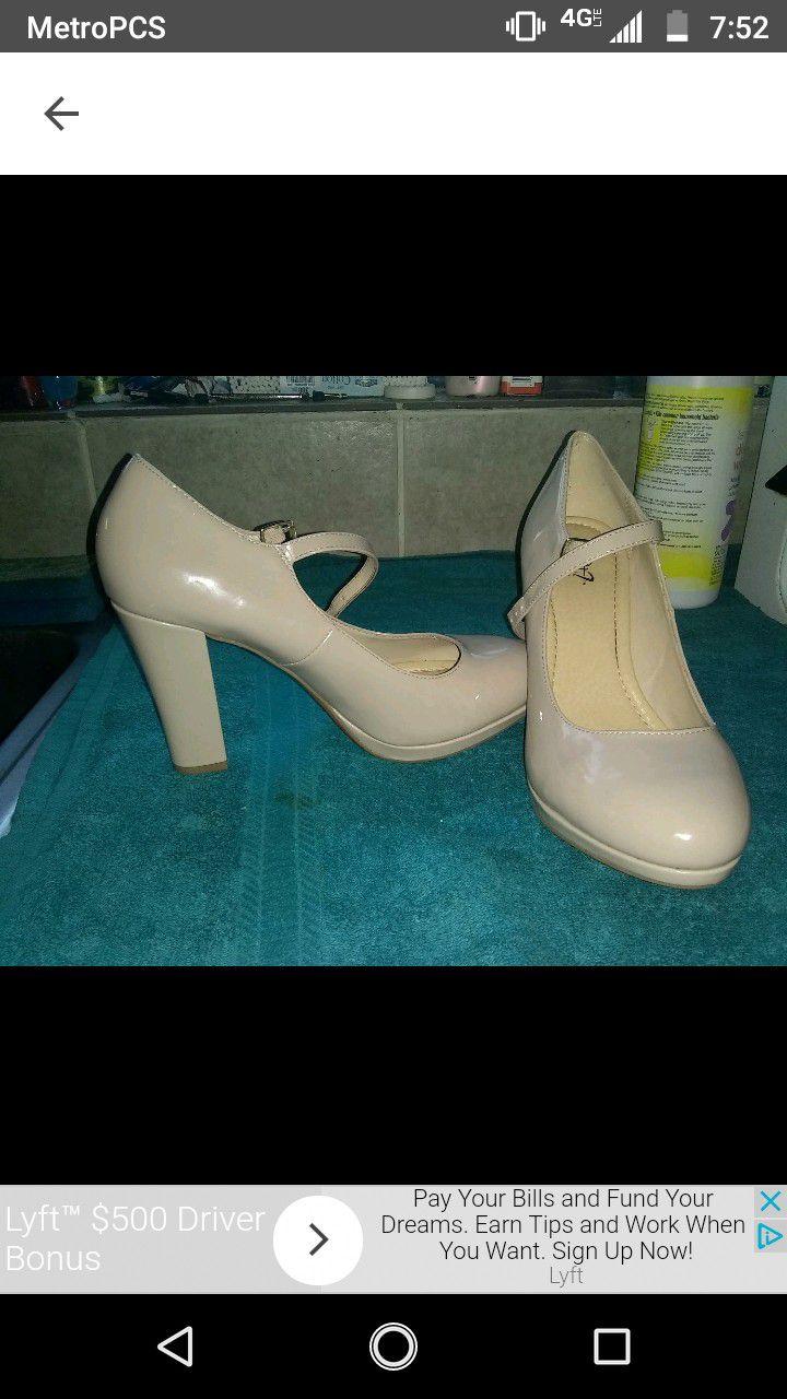 Size 10.5 nude heels