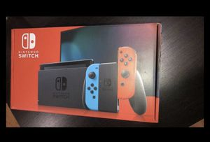 Photo Nintendo Switch Neon Blue and Neon Red
