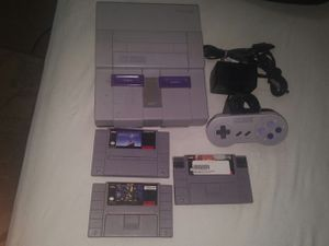 Super Nintendo with 3 games for Sale in Germantown, MD