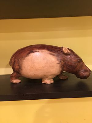 Solid wood hand carved hippos! for Sale in Silver Spring, MD