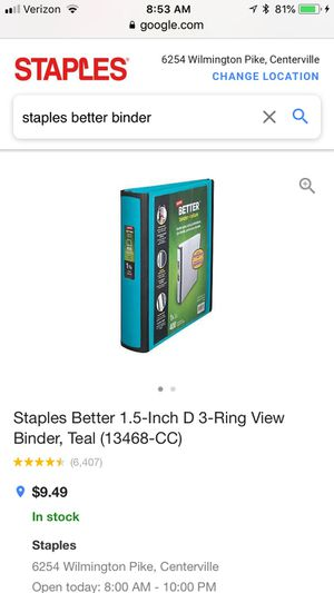 7 better binders from staples lifetime guarantee for sale in