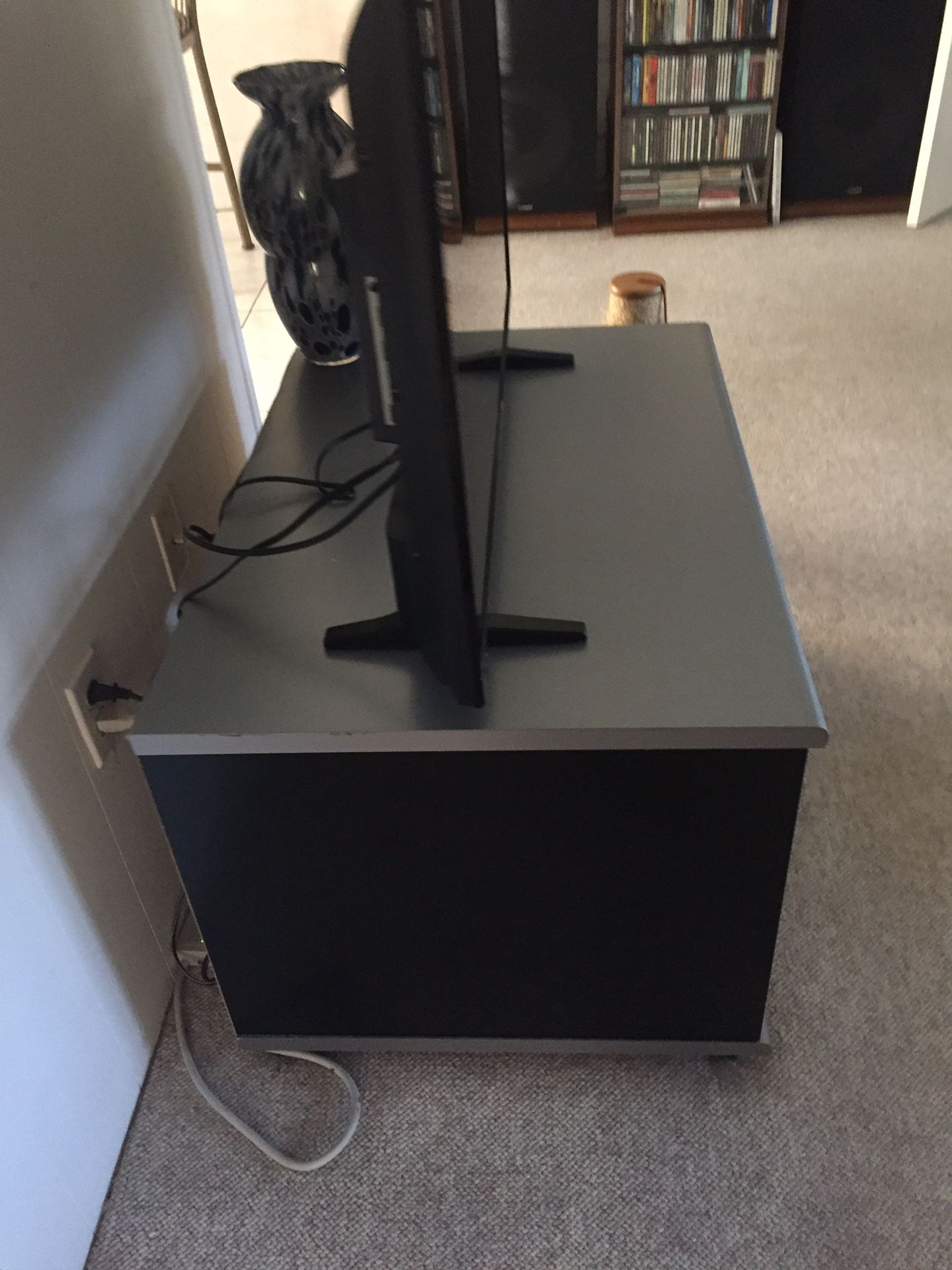 Black & Grey Wood 3ft. By 2ft. TV Stand