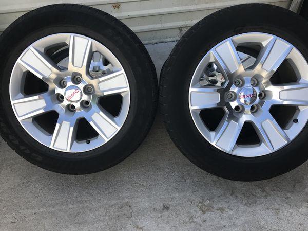 GMC Sierra Texas edition 20 inch wheels and Goodyear Tires ...