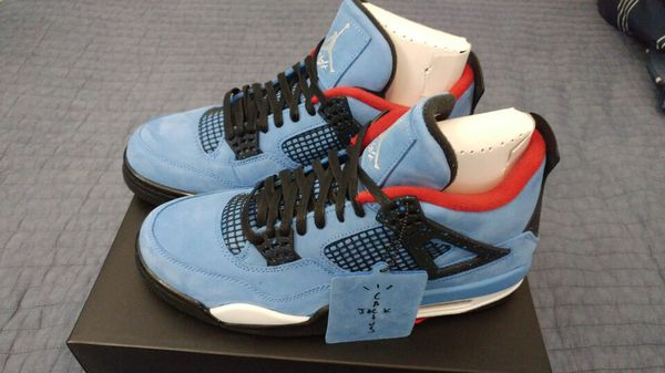 Nike Air Jordan 4 Travis Scott Cactus Jack Size 10 Clothing Shoes In Vero Beach Fl Offerup