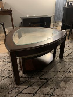 Coffee Table with Ottoman  Thumbnail