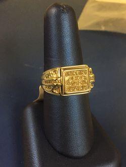 14k men's ring with diamonds Thumbnail